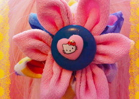 Hello Kitty Kawaii Flower Ponytail Scrunchie