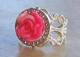 Fairy Tale Princess Rose Ring