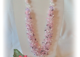 Rose Quartz  handmade necklace.