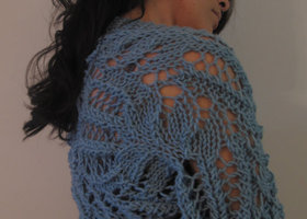 Custom Hand Knit Lace Bolero Shrug