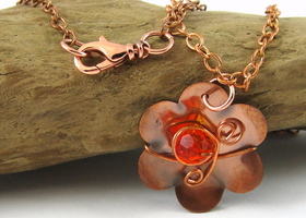 Swarovski and Copper Handmade Necklace