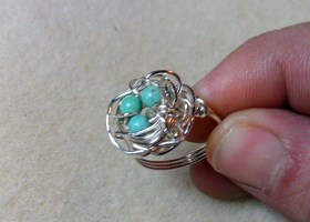 Silver Bird Nest Ring