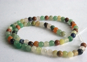 2 strands Multi Gemstone 6-7mm Beads, 15-inch strand +Bonuses