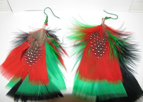 Handmade Feather Earrings