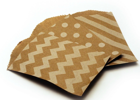60 little bitty paper bags 2.75x4 in
