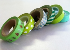Going Green Lot of Washi Tape Rolls