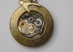 Steampunk Brass Locket