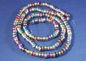 169 Mixed Colors Aluminum Metal Beads 6x4mm Finding