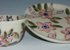 Porcelain Bowl and Plate Set