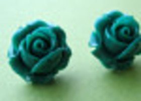 Romantic Emerald Green Flower Earrings