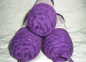 Lot of Vintage Acrylic Yarn - 3 Skeins of Wintuk in Violet