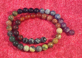 Mixed Strand Semi Precious Stone Chakra Beads Gemstone