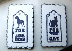 10 For the Dog or Cat Gift Tags You Choose