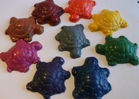 9 pc. Turtle Shaped Up-Cycled Crayons