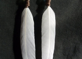 Malibu Maven Long White Feather Earrings