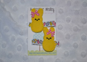 PEEPS inspired hairclips!