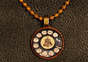 Vintage Phone Dial Penny Pendant/Necklace