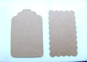 100 Brown Stock Cardstock Tags 2 Designs