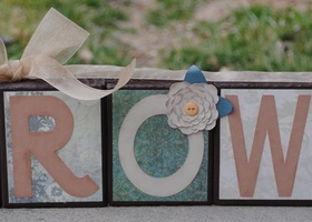 Handcrafted wooden name blocks