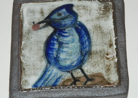 Blue Bird Tile / Paper Weight / Coaster