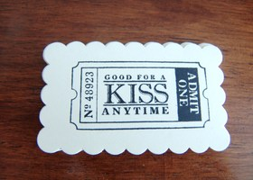 20 HANDSTAMPED KISS TICKET GIFT TAGS