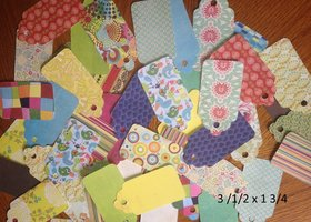150 Assorted Cardstock Tags - 3 Sizes (50 each size)
