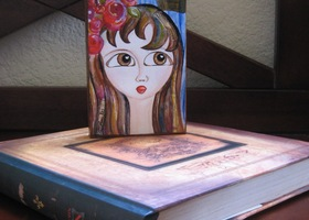 Flower Girl Wood Block