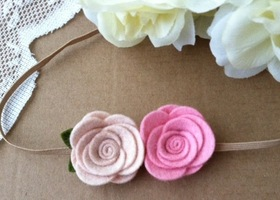 Cute Wool felt flower headband