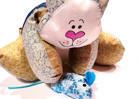 ***CHARITY AUCTION*** Boy Kitty Stuffed Animal
