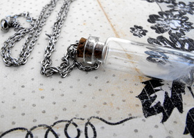 Little Feather Specimen Necklace