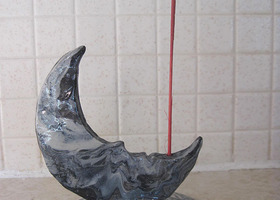 Unique Moon Incense Holder