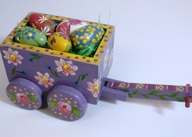 Easter Egg Cart Handpainted OOAK for Bunny Rabbit