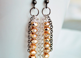 Handmade Rose Gold Earrings