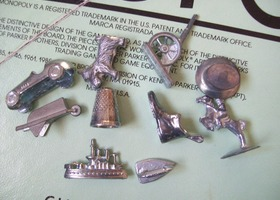 10 Pewter Monopoly pieces