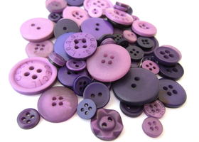 75 purple buttons