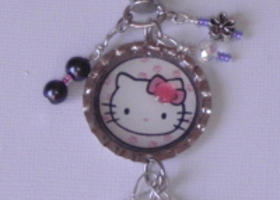 Hello Kitty Zipper Pull/Purse Jewel