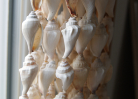 White Sand Shells curtain