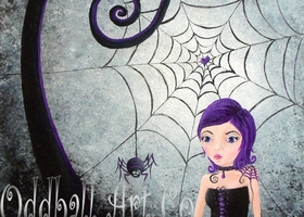 Little Miss Muffet Signed Art Print by Lizzy Love