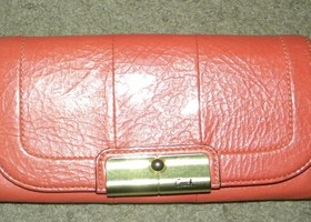 Coach Patent Leather Clutch Wallet