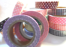 3 Cotton Tape Rolls - Polka Dots & Gingham