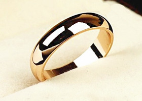 18K Real Gold Plated Classic loop Finger Ring