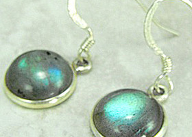 Lovely Labradorite Sterling Silver Earrings