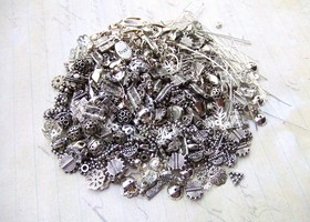 90 gms Mixed Silver Findings