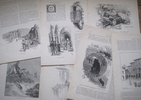 Antique 1890 Paper Ephemera, 24 Sheets