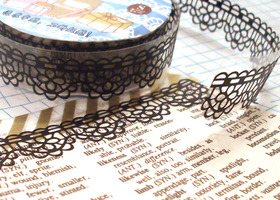3 Rolls Lace Washi Tape - Random Mix