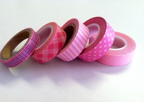 Pretty in Pink Washi Tape Roll Lot