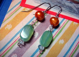 Mango and Melon earrings