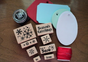 Christmas Tag Making Kit