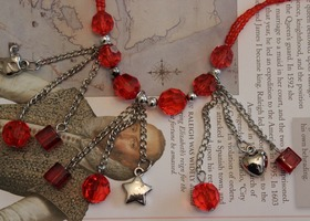 Tangerine Charm Necklace