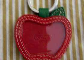 Coach Big Red Apple Keyfob-New